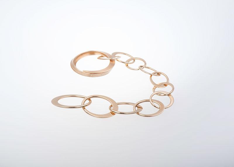 Gliederarmband im Fantasiemuster Juwelier Raths Bonn