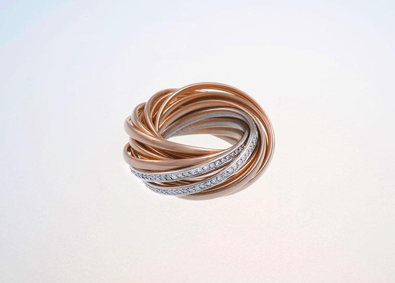Mehrreif-Ring Ring Rotgold Juwelier Raths Bonn