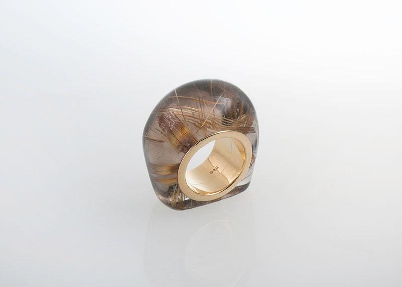 Stein-Ring Rutilquarz Juwelier Raths Bonn