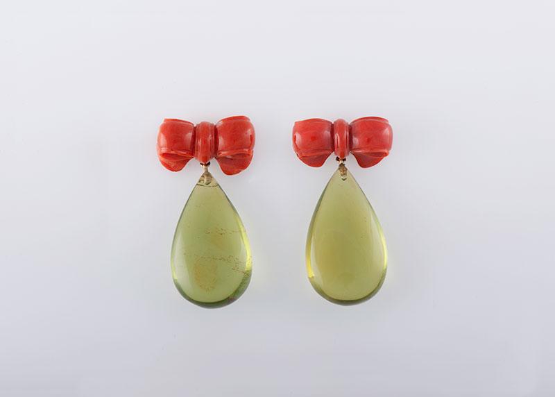 Korallen-Ohrringe Ohrhänger Juwelier Raths Bonn