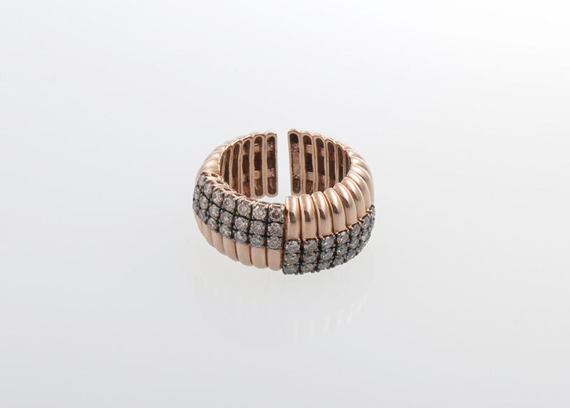 Rotgold Ring gerippt Juwelier Raths Bonn